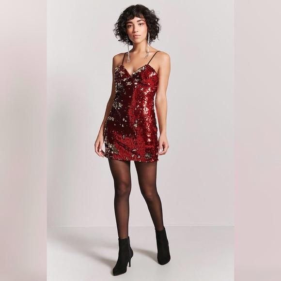 6e664e2569 🌸SALE🌸 New Forever 21 Red Sequin Dress